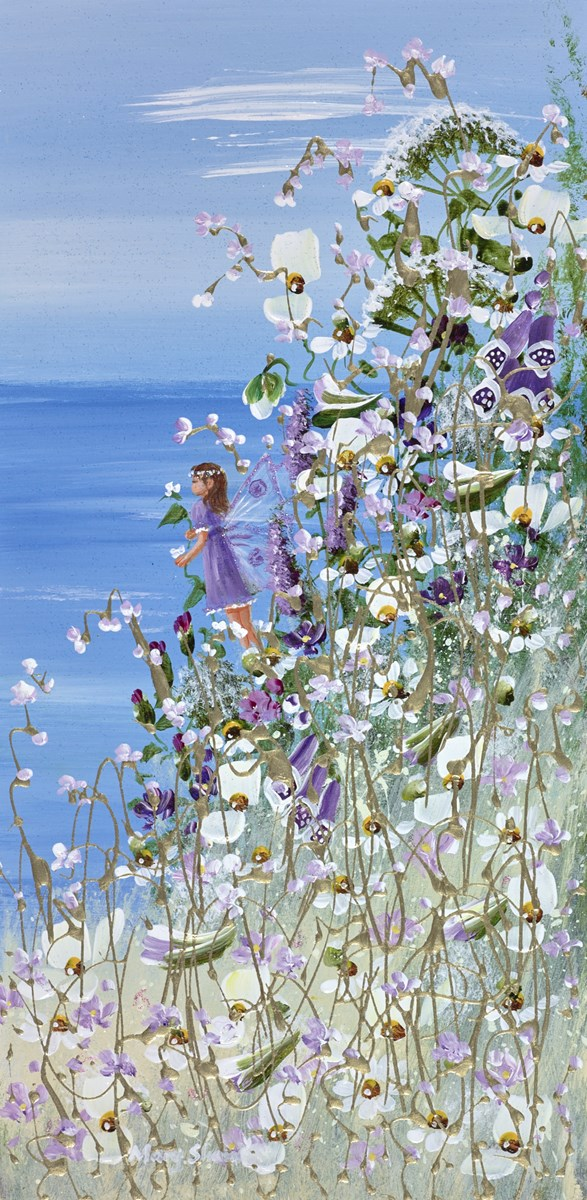 Hiding in the Flowers II by mary shaw -  sized 8x16 inches. Available from Whitewall Galleries